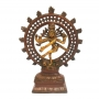 Shiva na Roda de Fogo em Bronze